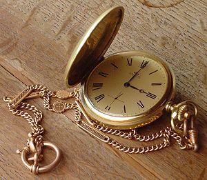 Pocket watch, savonette-type.